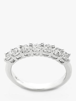Mogul 18ct White Gold Round Brilliant Diamond Eternity Ring, 1ct