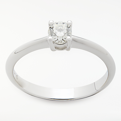 Mogul 18ct White Gold Round Brilliant Diamond Engagement Ring, 0.33ct