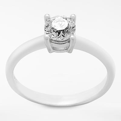 Mogul 18ct White Gold Princess Cut Diamond Engagement Ring, 0.7ct