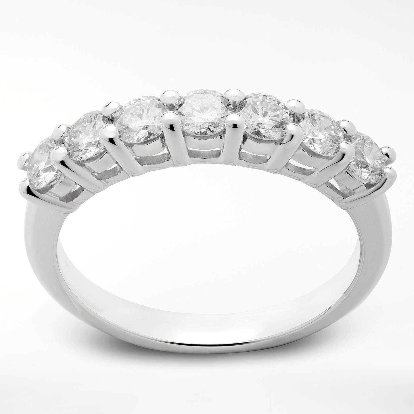 rings diamond jewellery trio three in sided ring white gold micropav wedding band eternity top