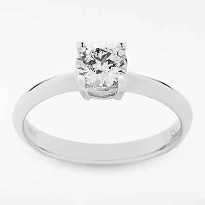 Mogul 18ct White Gold Round Brilliant Diamond Engagement Ring, 0.7ct