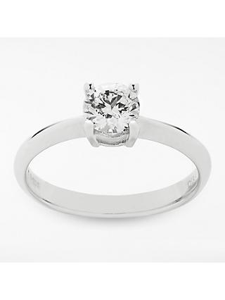 Mogul 18ct White Gold Round Brilliant Diamond Engagement Ring, 0.7ct