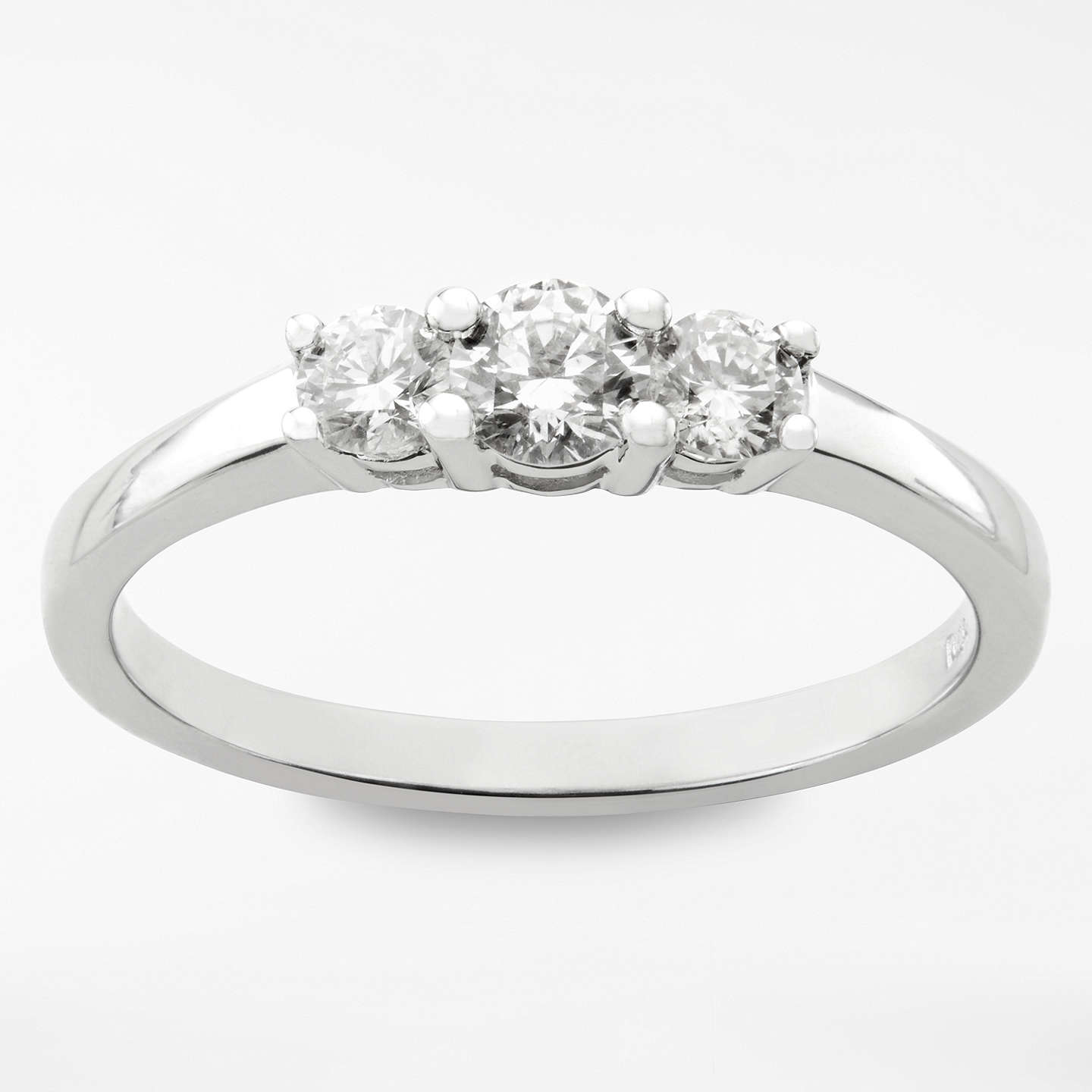stone ring ct round three brilliant e twt in gold sidestones w d white certified diamond engagement diamonds side