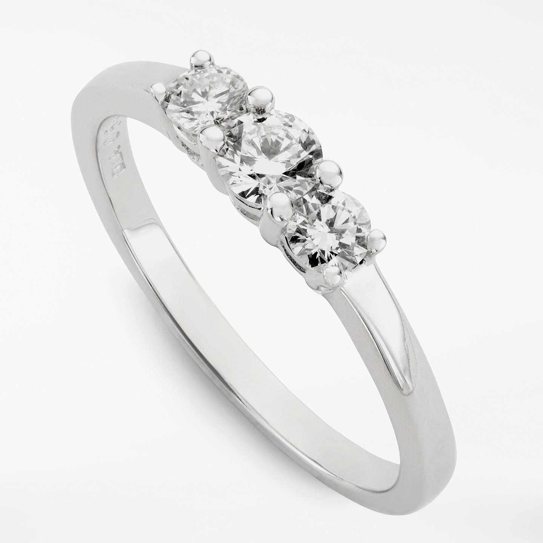 Ruby Wedding Gifts John Lewis: Diamond Collection 18ct White Gold Round Brilliant Diamond