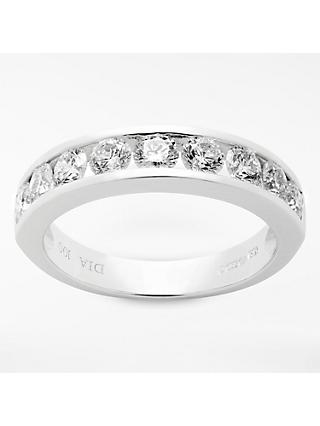 Mogul 18ct White Gold Round Brilliant Channel Set Diamond Eternity Ring, 1ct