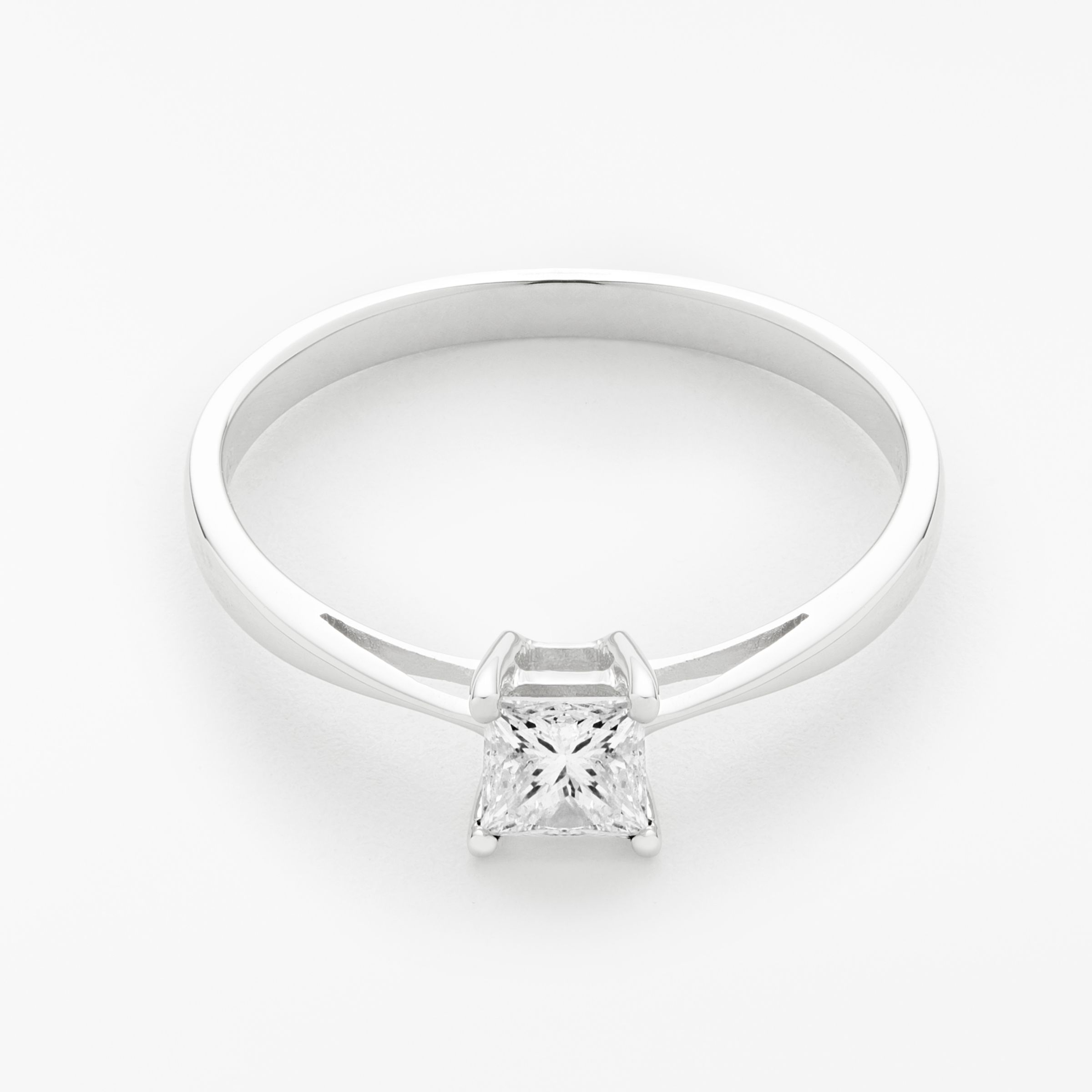 09be4190d0176f Mogul 18ct White Gold Princess Cut Diamond Engagement Ring, 0.5ct at John  Lewis & Partners
