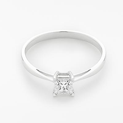 Mogul 18ct White Gold Princess Cut Diamond Engagement Ring, 0.5ct