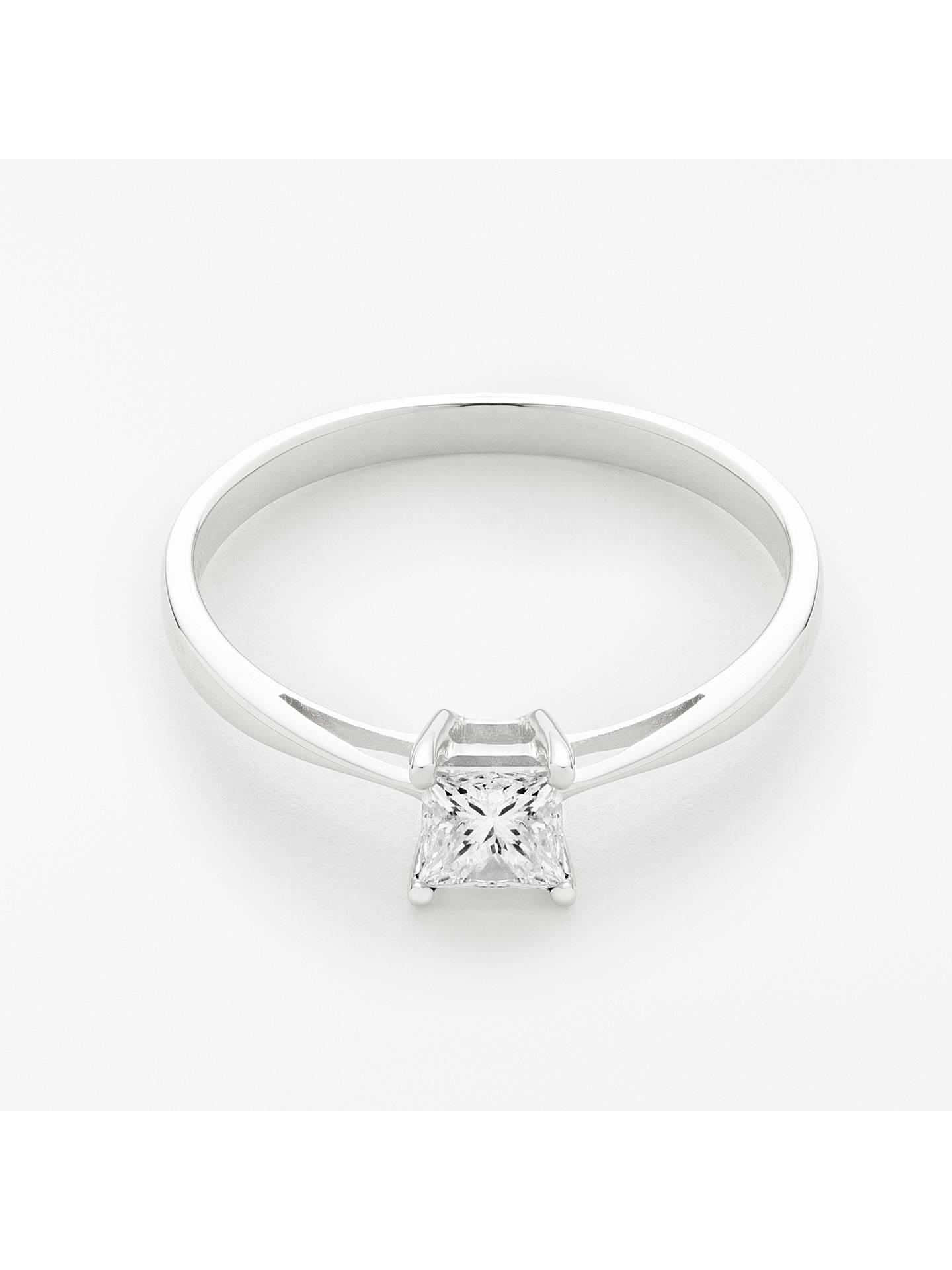 Mogul 18ct White Gold Princess Cut Diamond Engagement Ring 0 5ct