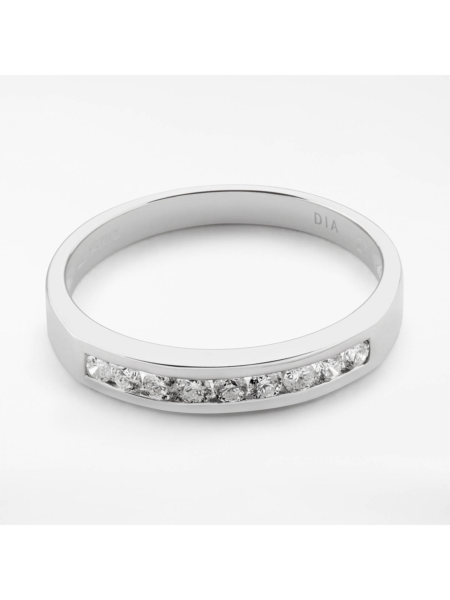 BuyMogul 18ct White Gold Round Brilliant Channel Set Diamond Eternity Ring, 0.25ct, L Online at johnlewis.com