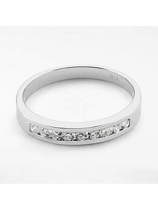 Mogul 18ct White Gold Round Brilliant Channel Set Diamond Eternity Ring, 0.25ct