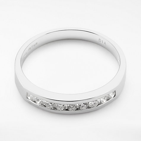 Buy Diamond Collection 18ct White Gold Round Brilliant Channel Set Diamond Eternity Ring, 0.25ct Online at johnlewis.com
