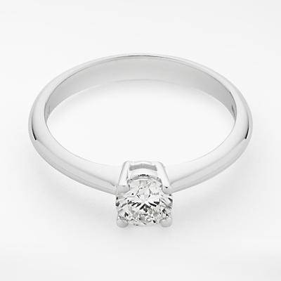 Mogul 18ct White Gold Round Brilliant Diamond Engagement Ring, 0.5ct