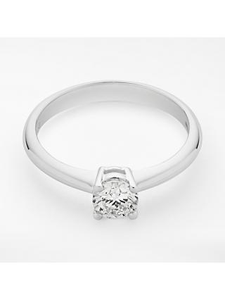 Mogul 18ct White Gold Round Brilliant Diamond Engagement Ring, 0.5ct
