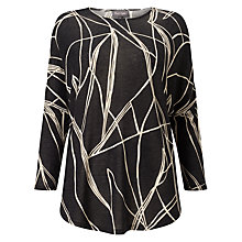 Buy Phase Eight Abstract Line Print Top, Charcoal/Ivory Online at johnlewis.com
