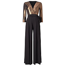 Buy Phase Eight Wrap Jumpsuit, Black/Bronze Online at johnlewis.com