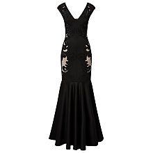 Buy Phase Eight Anne Cutwork Full Length Dress, Black Online at johnlewis.com