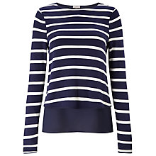 Buy Phase Eight Samara Double Layer Top, Navy/Ivory Online at johnlewis.com