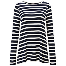 Buy Phase Eight Petra Pleat Back Stripe Top, Navy/Ivory Online at johnlewis.com