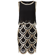 Buy Phase Eight Collection 8 Alice Beaded Dress, Black/Gold Online at johnlewis.com