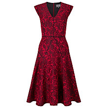 Buy Phase Eight Amelie Jacquard Dress, Claret Online at johnlewis.com