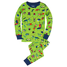 Buy Hatley Children's Bug Print Pyjamas, Green/Multi Online at johnlewis.com