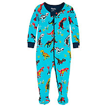 Buy Hatley Baby Roaring T-Rex Sleepsuit, Blue Online at johnlewis.com