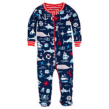 Buy Hatley Baby Vintage Nautical Sleepsuit, Navy Online at johnlewis.com
