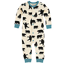 Buy Hatley Baby Bears Footless Sleepsuit, Cream Online at johnlewis.com