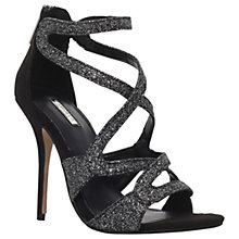 Buy Carvela Grove Glitter Multi Strap Sandals, Gunmetal Online at johnlewis.com