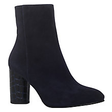 Buy Carvela Smile Block Heeled Ankle Boots, Navy Online at johnlewis.com