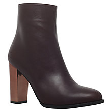 Buy Carvela Salvador Block Heeled Ankle Boots, Wine Online at johnlewis.com