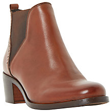 Buy Dune Parnell Block Heeled Ankle Chelsea Boots Online at johnlewis.com
