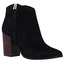 Buy Carvela Smashing Block Heeled Ankle Boots, Black Online at johnlewis.com