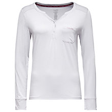 Buy Calvin Klein Long Sleeve Pyjama Top, Grey Online at johnlewis.com