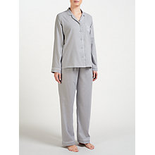 Buy John Lewis Chambray Embroidered Pocket  Pyjama Set, Grey Online at johnlewis.com