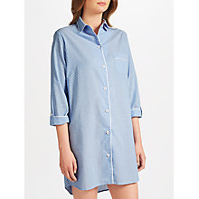 Buy John Lewis Pin Spot Chambray Night Shirt, Blue/Ivory Online at johnlewis.com