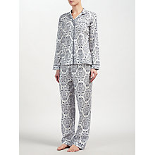 Buy John Lewis Fleur Print Pyjama Set, Ivory/Navy Online at johnlewis.com