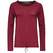 Buy Calvin Klein Drawstring Long Sleeve Pyjama Top, Burgundy Online at johnlewis.com