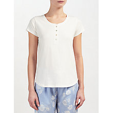 Buy John Lewis Short Sleeve Henley Pyjama Top Online at johnlewis.com