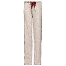 Buy Calvin Klein Floral Etching Pyjama Bottoms, Beige Online at johnlewis.com