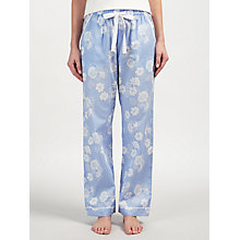 Buy John Lewis Floral Print Pyjama Bottoms, Blue/Ivory Online at johnlewis.com