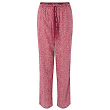 Buy Calvin Klein Shard Geometric Print Pyjama Bottoms, Burgundy Online at johnlewis.com