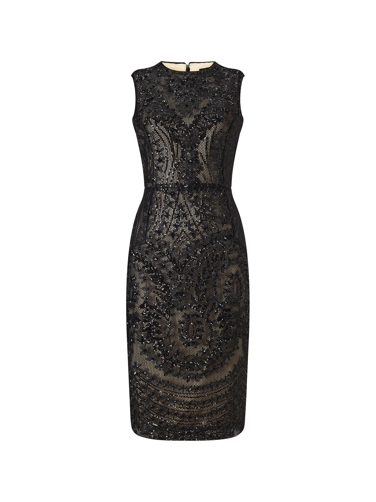 Phase Eight Bethan Dress, Black at John Lewis