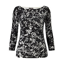 Buy Phase Eight Marea Marble Print Jumper, Black Online at johnlewis.com