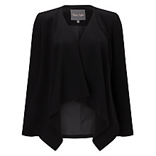 Buy Phase Eight Aryelle Waterfall Jacket, Black Online at johnlewis.com