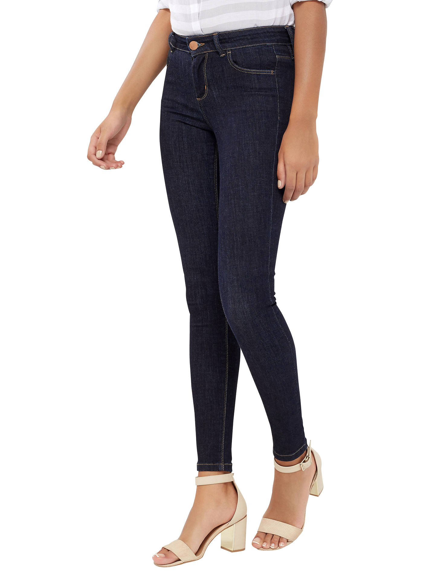 Buy Oasis Jade Classic Skinny Jeans, Dark Wash, 8 Online at johnlewis.com