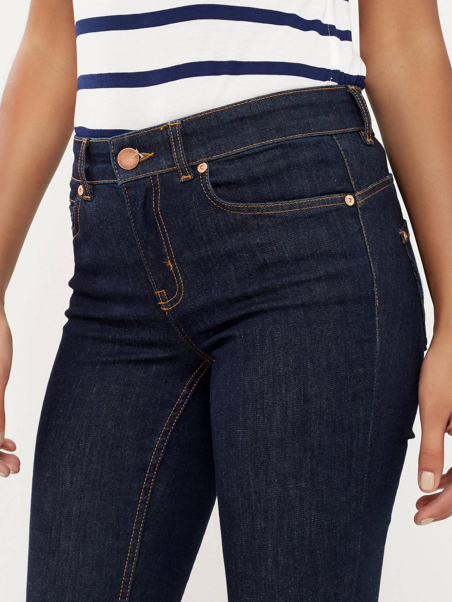 da855c9da488 Buy Oasis New Premium Rinse Wash Jeans, Dark wash, 6 Online at johnlewis.