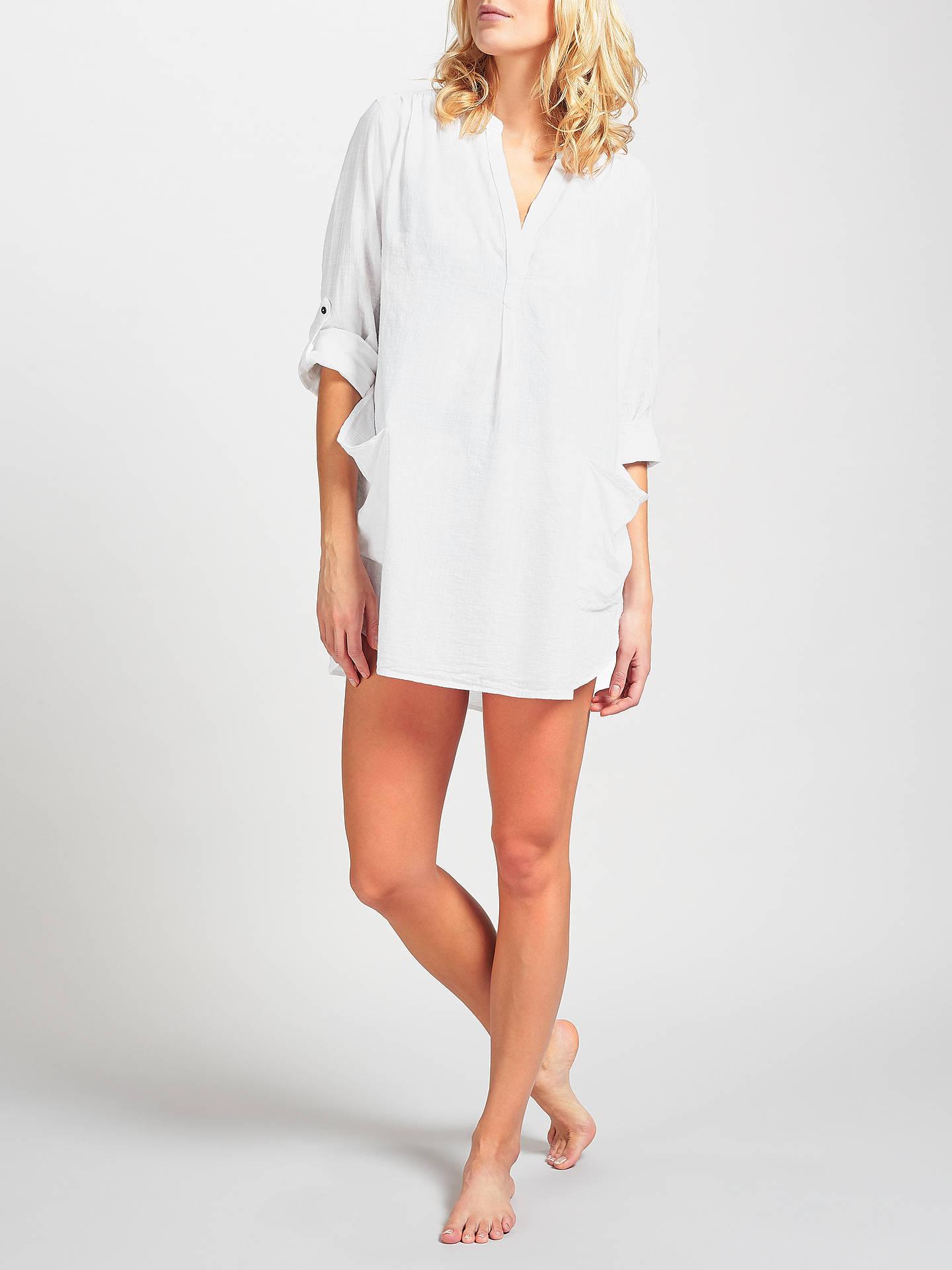 f4926435a8 Buy Seafolly Boyfriend Beach Shirt, White, S Online at johnlewis.com ...