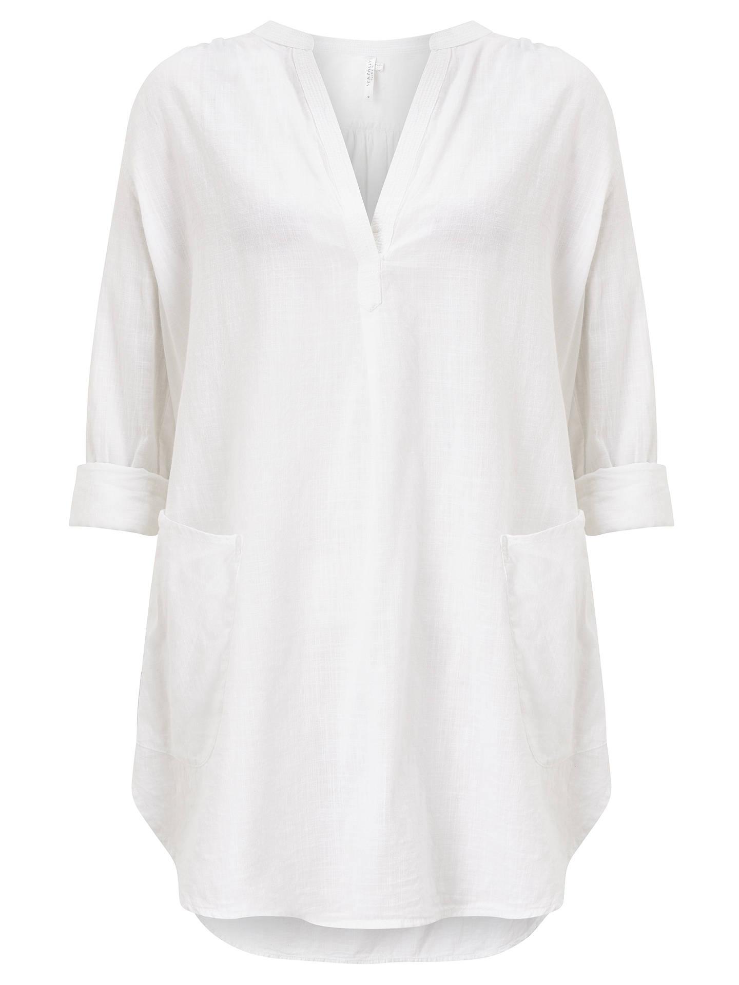 c45a66bac7 ... Buy Seafolly Boyfriend Beach Shirt, White, S Online at johnlewis.com