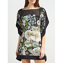 Buy Ted Baker Geminaa Gem Garden Kaftan, Black/Multi Online at johnlewis.com